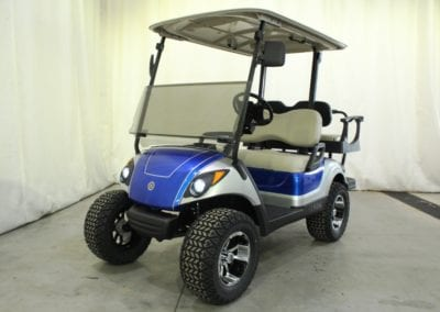 2014 Yamaha Gas DELUXE STREET READY Golf Cart, Silver & Blue: $7,095.00